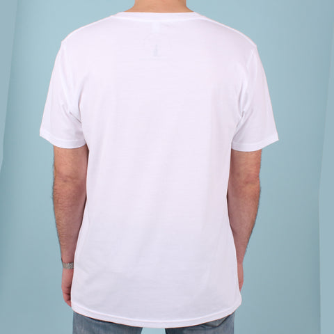 Printed Short Sleeved Organic Cotton T Shirt - White Original