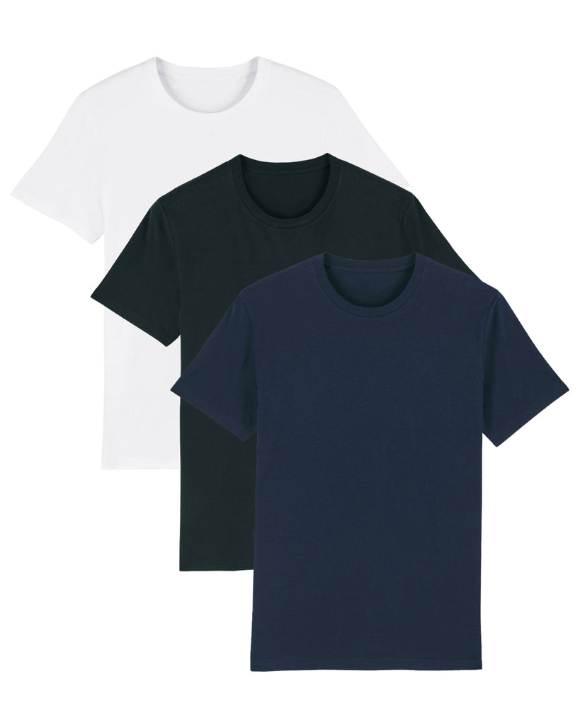 Men's Attenborough Organic T-Shirts - 3 Pack