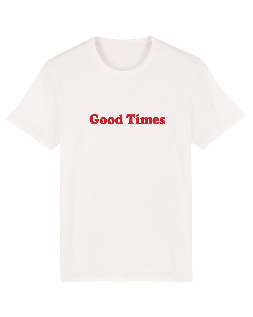 Good Times - Print Tee - White - SMALL ONLY