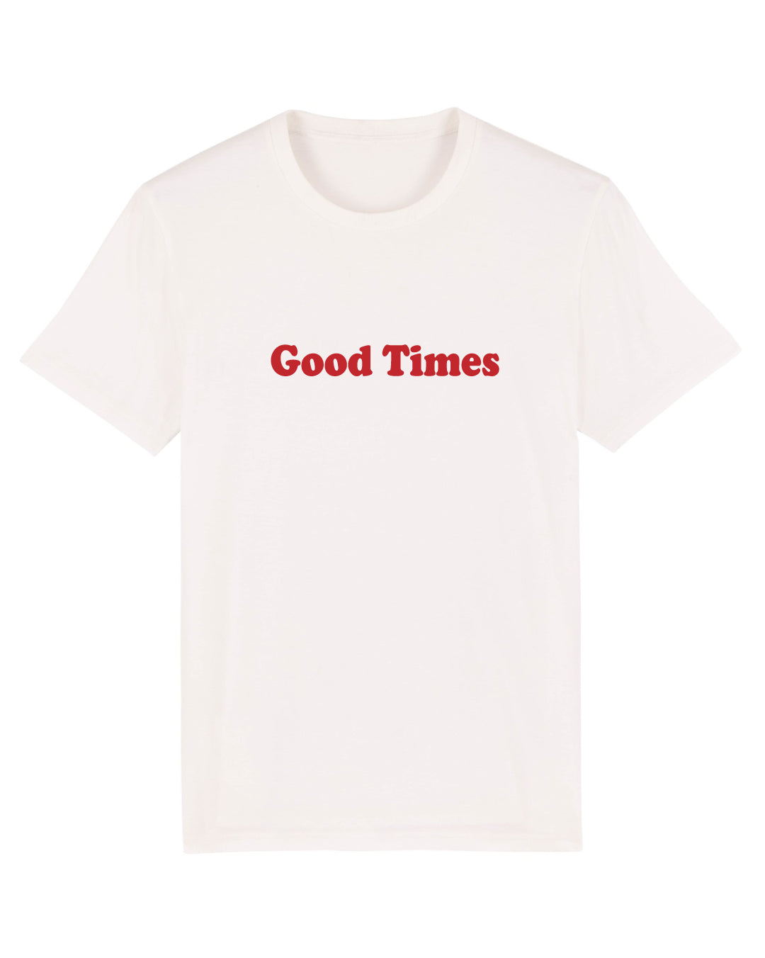 Good Times - Women's Organic Cotton Print Tee - White - SMALL ONLY