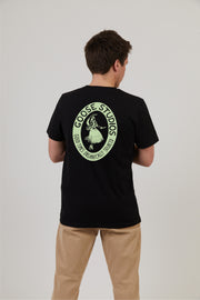 Men's Black Organic Cotton T-Shirt - Hula Print