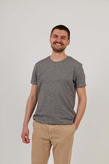 Men's Attenborough Organic T-Shirt - Marble Grey