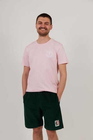 Life's A Beach - Men's Organic Cotton Print Tee - Pink