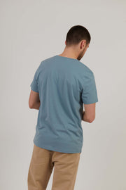 Men's Attenborough Organic Cotton T-Shirt - Steel Blue