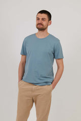 Men's Attenborough Organic T-Shirt - Steel Blue