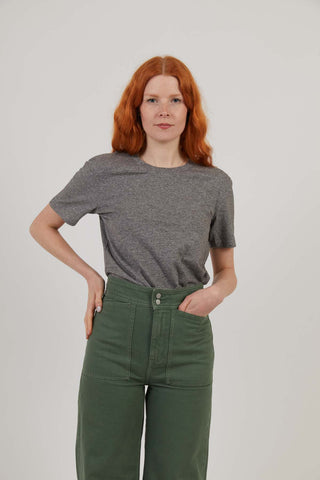 Attenborough Organic T-Shirt - Marble Grey