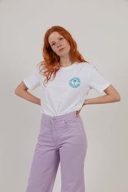 Life's A Beach - Women's Organic Cotton T-Shirt - White/Turquoise