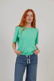 Women's Organic Cotton Workwear T-Shirt - Green