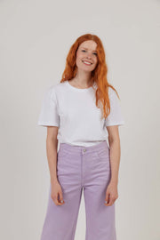 Women's Organic Cotton Workwear T-Shirt - White