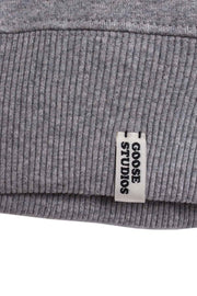 Women's Grey Organic Cotton Sweatshirt - Drop-Shoulder