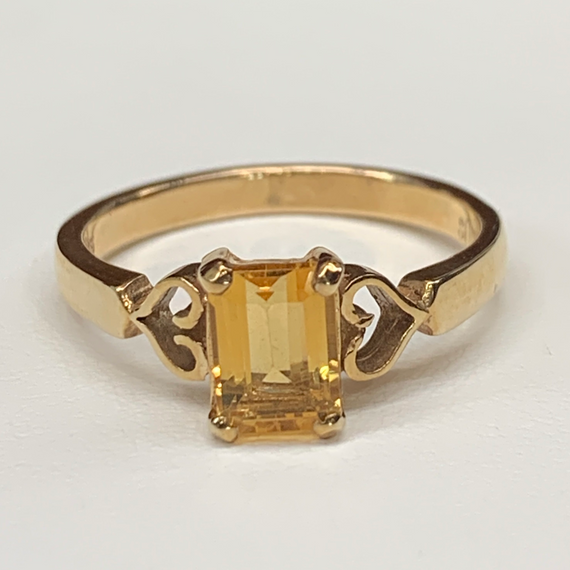 9ct Gold Citrine Ring
