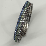 Stainless Steel and Crystal Wrap around Bngle