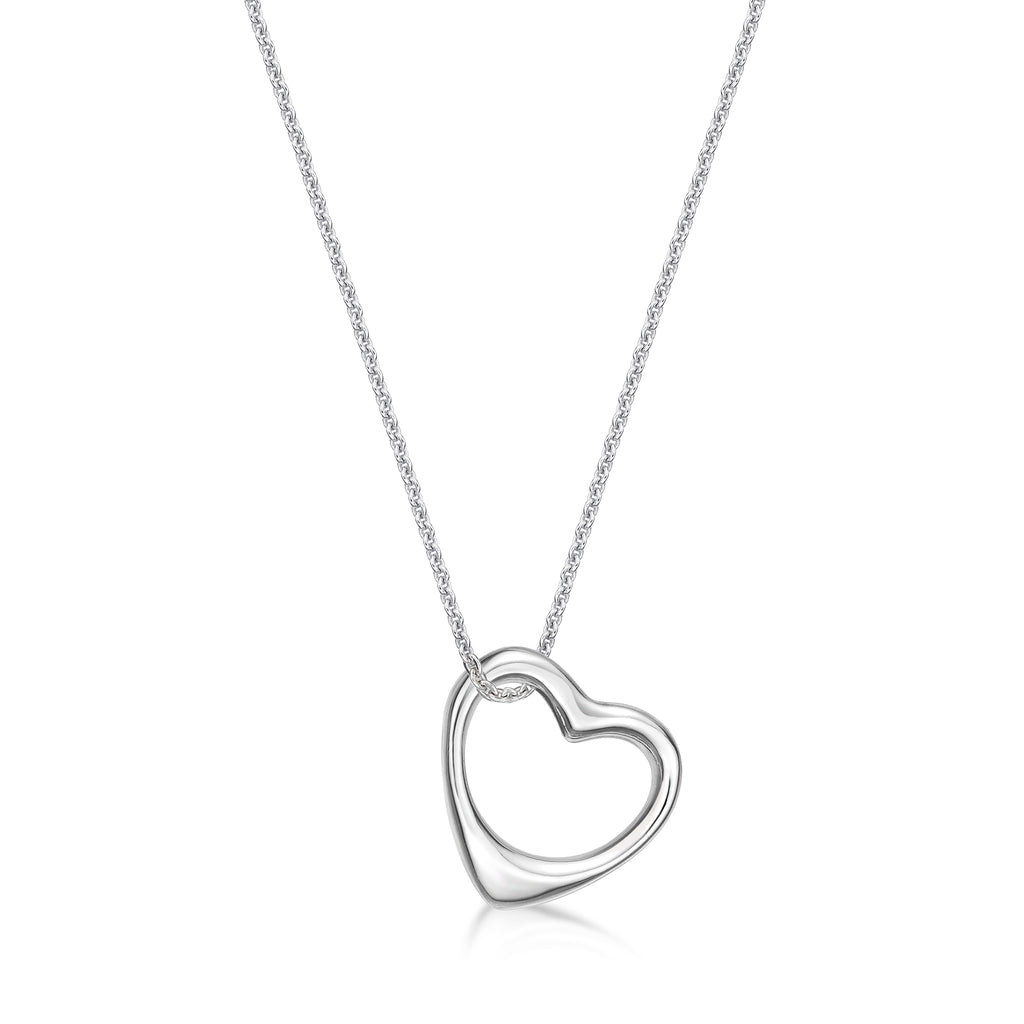 Sterling Silver Outline Heart on a  Sterling Silver Chain