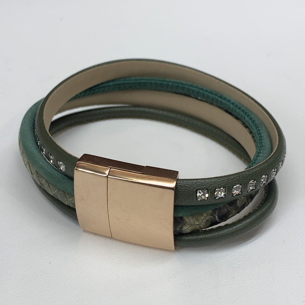 Leather and Stainless Steel Bracelet