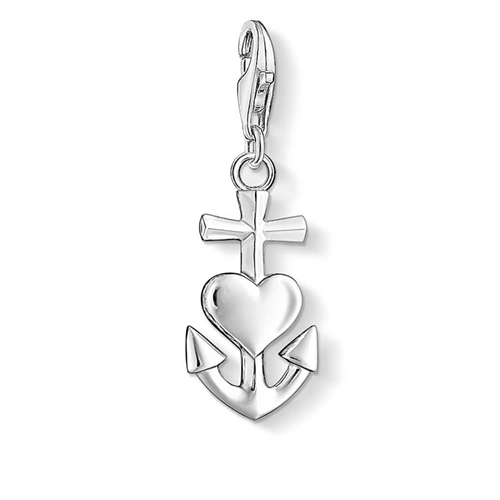 Thomas Sabo Charm Club Sterling Silver Faith Love Hope Charm