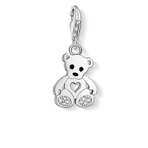 Thomas Sabo Charm Club Sterling Silver Teddy Bear Cz Charm