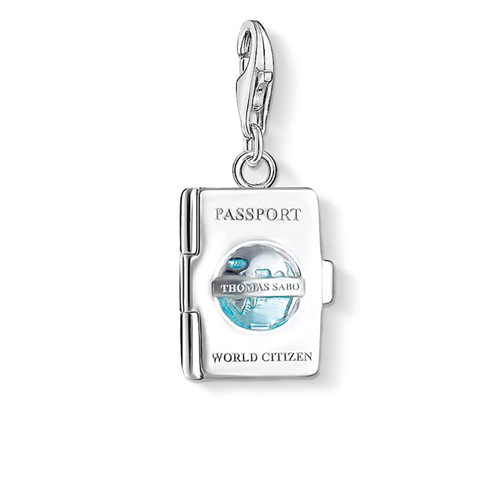 Thomas Sabo Charm Club Sterling Silver and Enamel Passport Charm