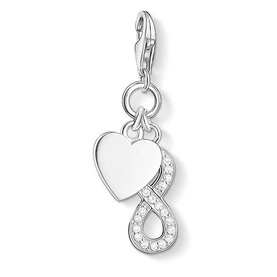 Thomas Sabo Charm Club Sterling Silver Heart Eternity Charm