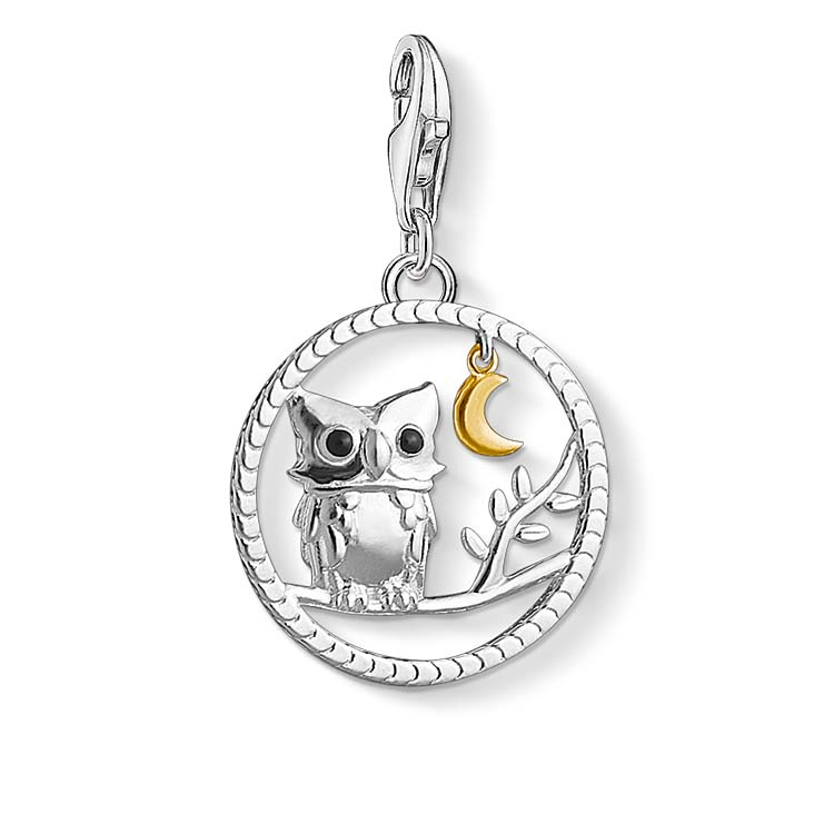 Thomas Sabo Charm Club Sterling Silver Night Owl Charm