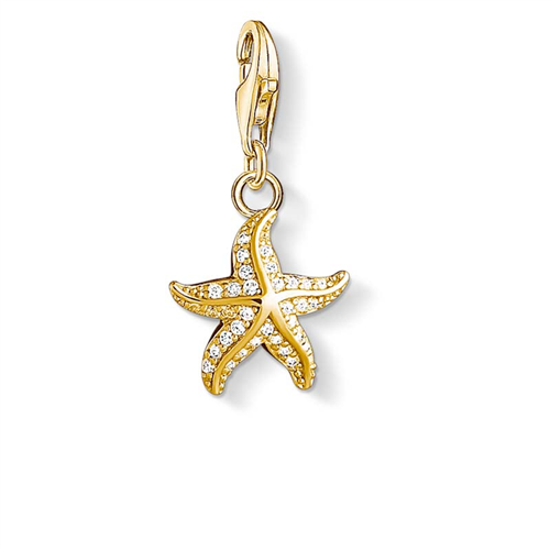 Thomas Sabo Charm Club Gold Plated Starfish Charm