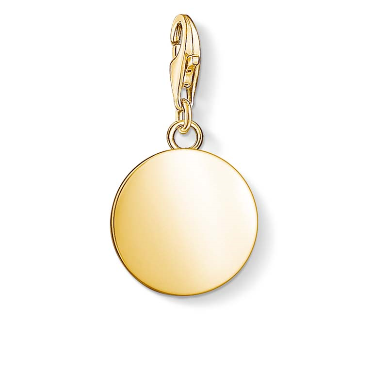 Thomas Sabo Charm Club Gold Plated Engravable Disc Charm