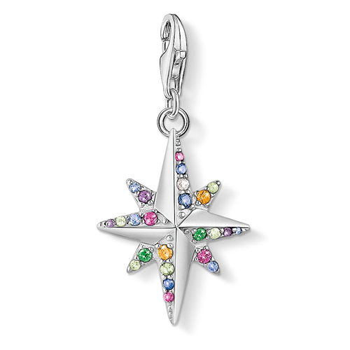Thomas Sabo Charm Club Sterling Silver Colourful Star Charm
