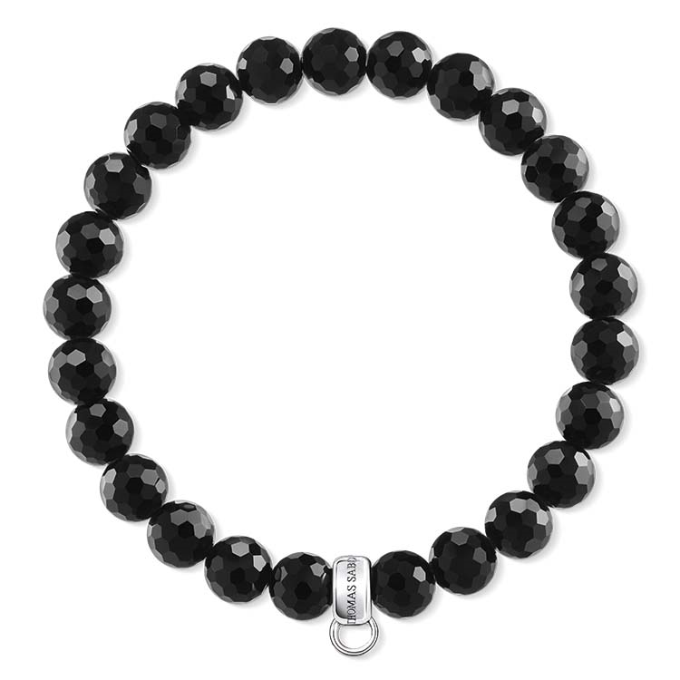 Thomas Sabo Charm Club Beaded Obsidian Bracelet