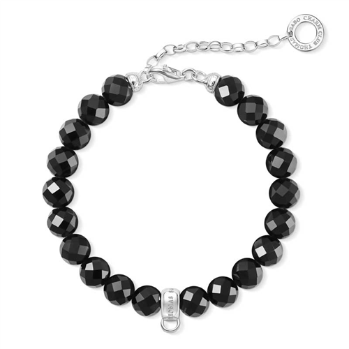 Thomas Sabo Charm Club Obsidian Beaded Bracelet