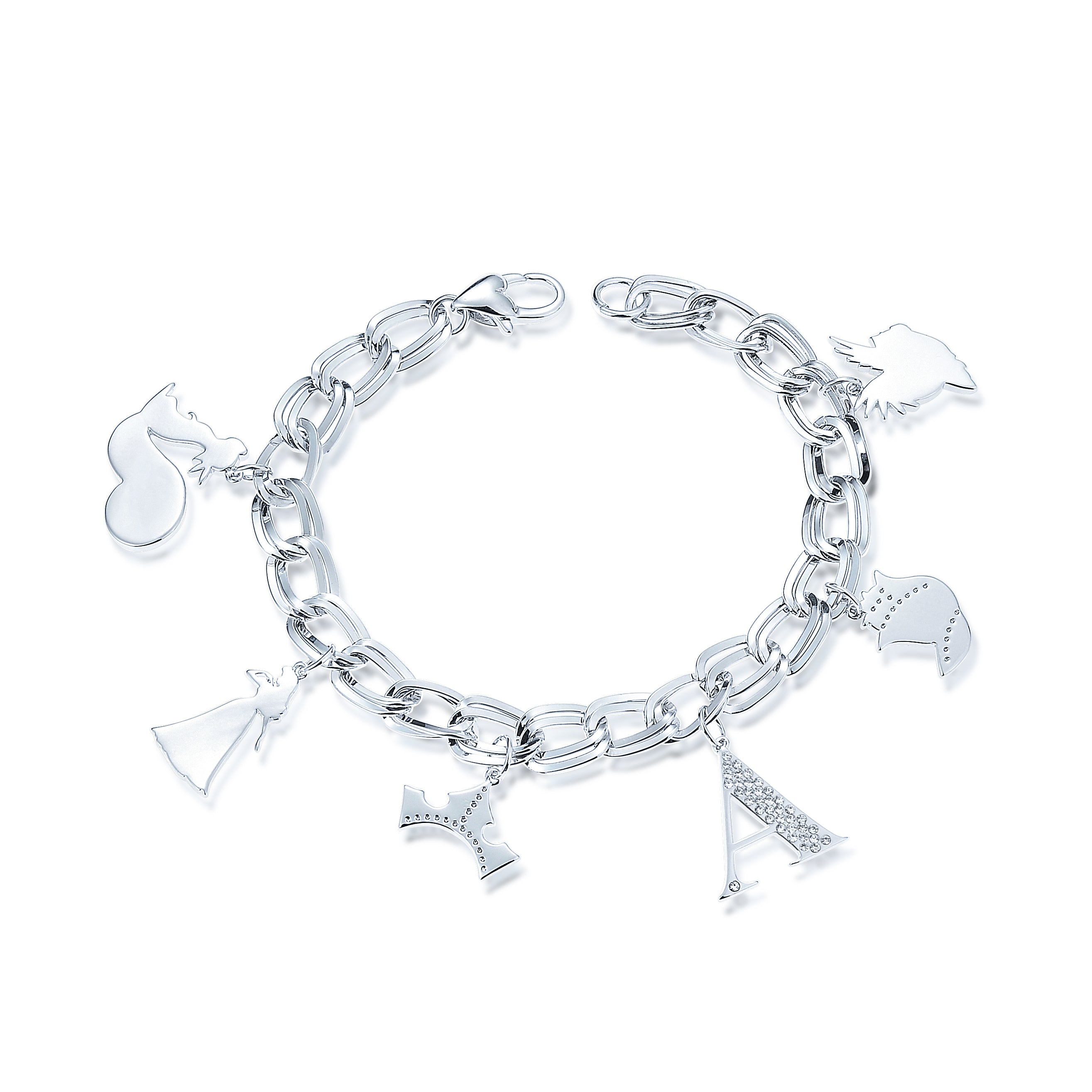 Disney Couture Kingdom Silver Sleeping Beauty Charm Bracelet