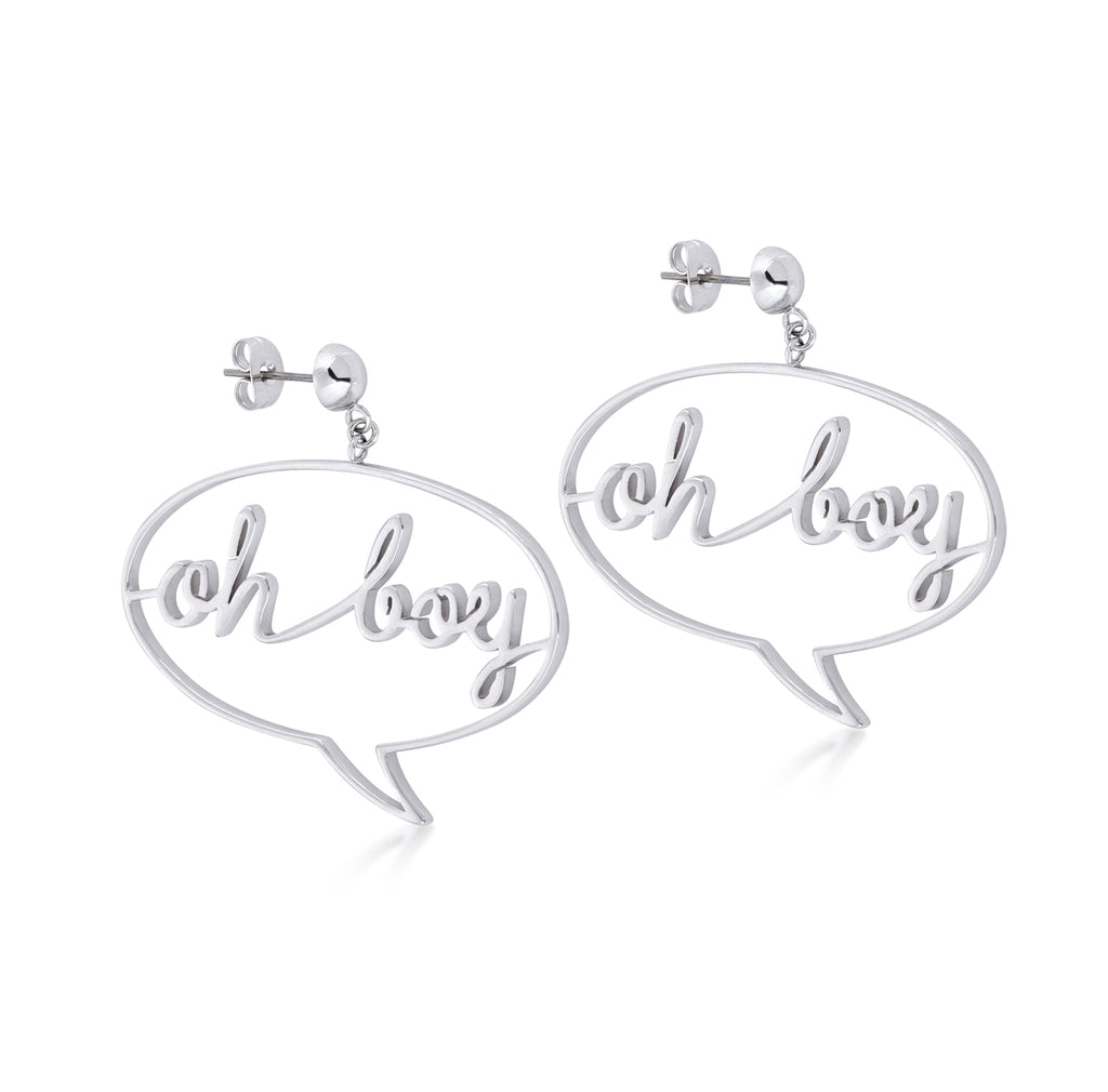 "Disney Couture Kingdom Mickey ""Oh Boy"" Earrings"