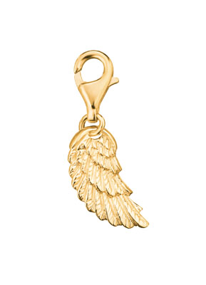 Engelsrufer Gold Plated Angel Wing Charm