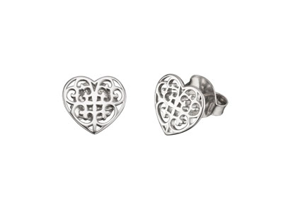 Engelsrufer Sterling Silver Heart Earrings