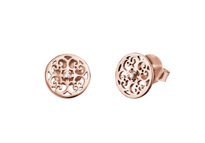 Engelsrufer Sterling Silver Rose Gold Plated Earrings