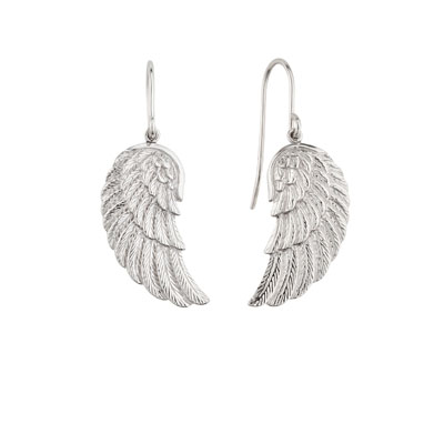 Engelsrufer Sterling Silver Wing Drop Earrings