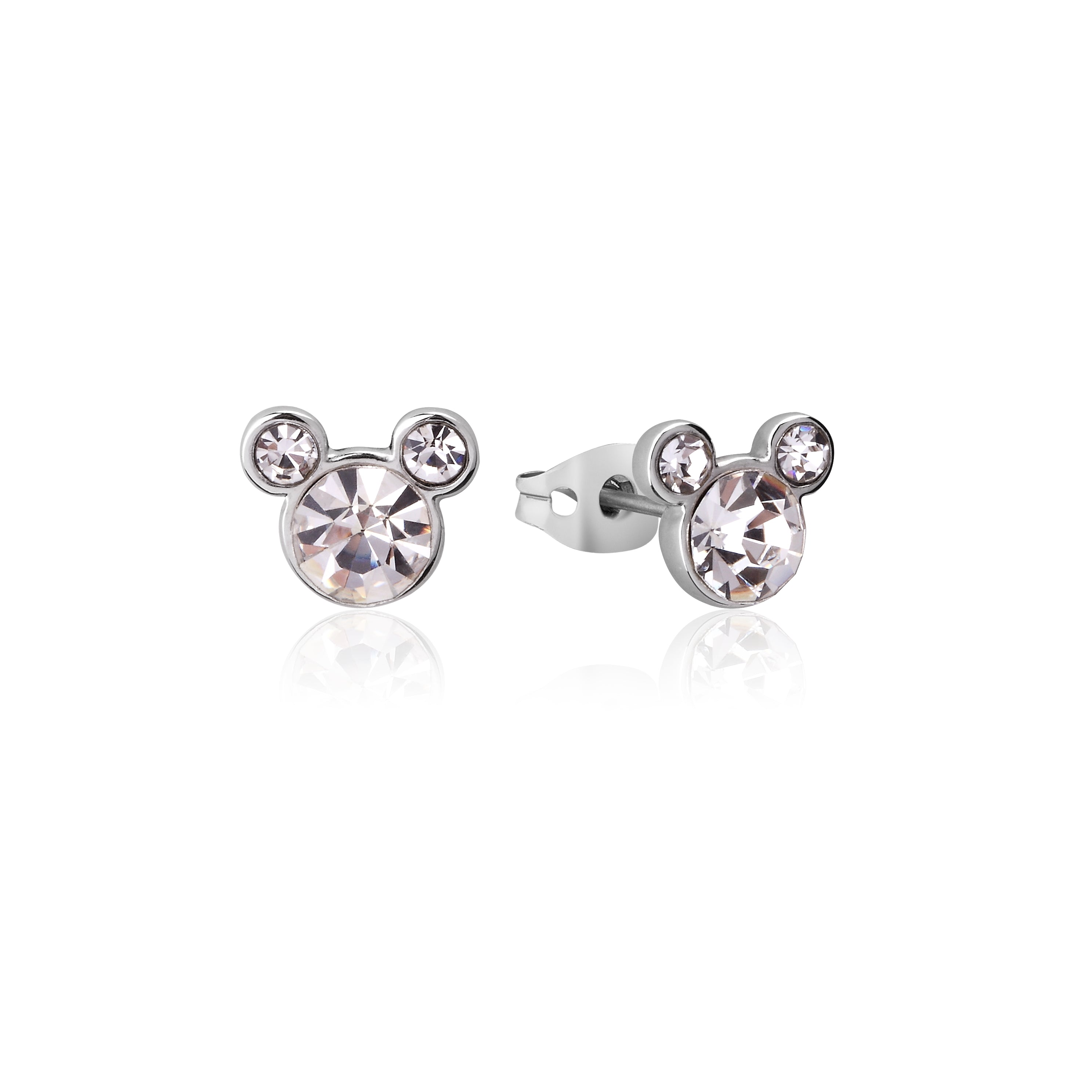 Disney Couture Kingdom Mickey Mouse April Birthstone Earrings
