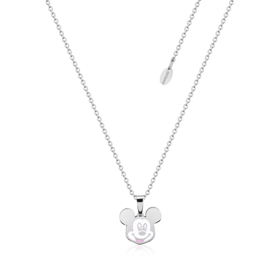 Disney Couture Kingdom Stainless Steel Mickey Mouse Enamel Necklace