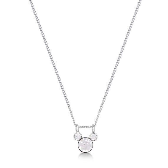 Disney Couture Kingdom Mickey Mouse April Birthstone Necklace