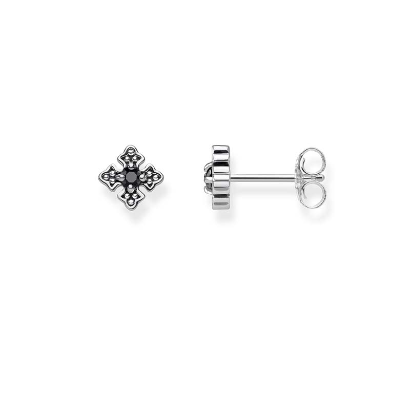 Thomas Sabo Sterling Silver Royal Cross Stud Earrings