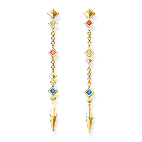 Thomas Sabo Gold Plated Paradise Stud Earrings