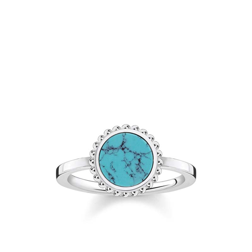 Thomas Sabo Sterling Silver Riviera Turquoise Ring