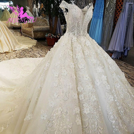 AIJINGYU Greece Dress Marriage Wear Gowns Quality Muslim Nice White Ballroom Gown Cheap Designer Wedding Dresses