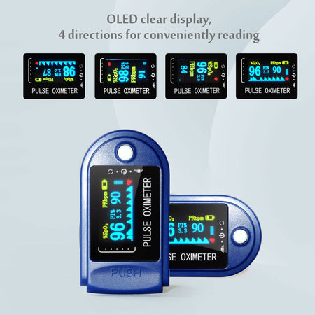Blood Oxygen Finger Pulse Oximeters Digital Fingertip Oximeters Oxygen Saturation Monitor Meter Portable Oximetro No Battery