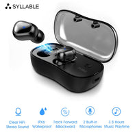 SYLLABLE D900P TWS Bluetooth Earphone True Wireless Stereo Earbud Waterproof Bluetooth Headset D900P for Phone HD Communication