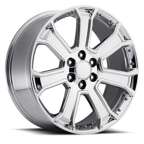 RP06  Replica Chrome W/Chrome Inserts 22x9 6x139.7 ET: +31 offset CB: 78.1mm