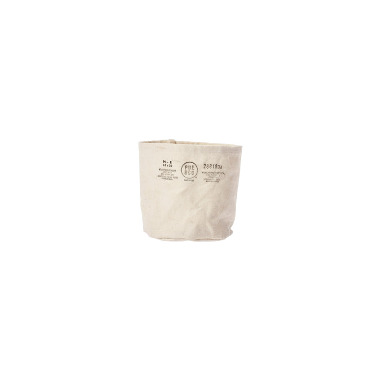 Canvas Pot Cover Small Off White