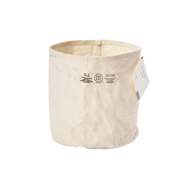Canvas Pot Cover Large Off White
