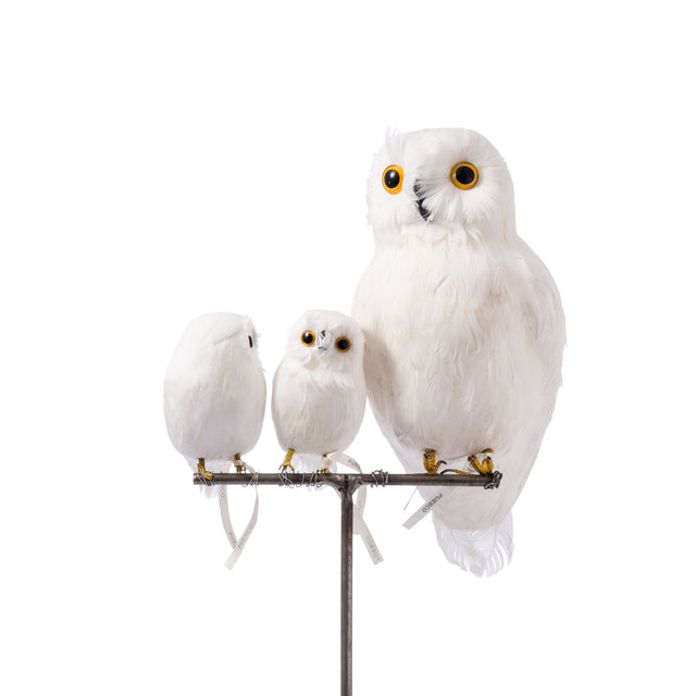 Artificial Bird - Small White Owl (Front)