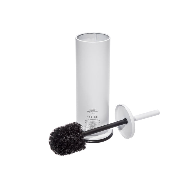 White Toilet Brush