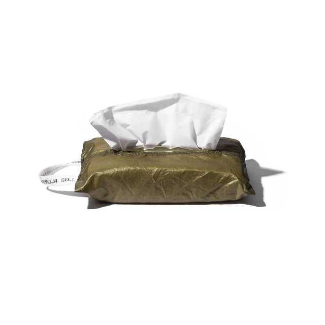 Vintage Parachute Tissue Cover - Olive