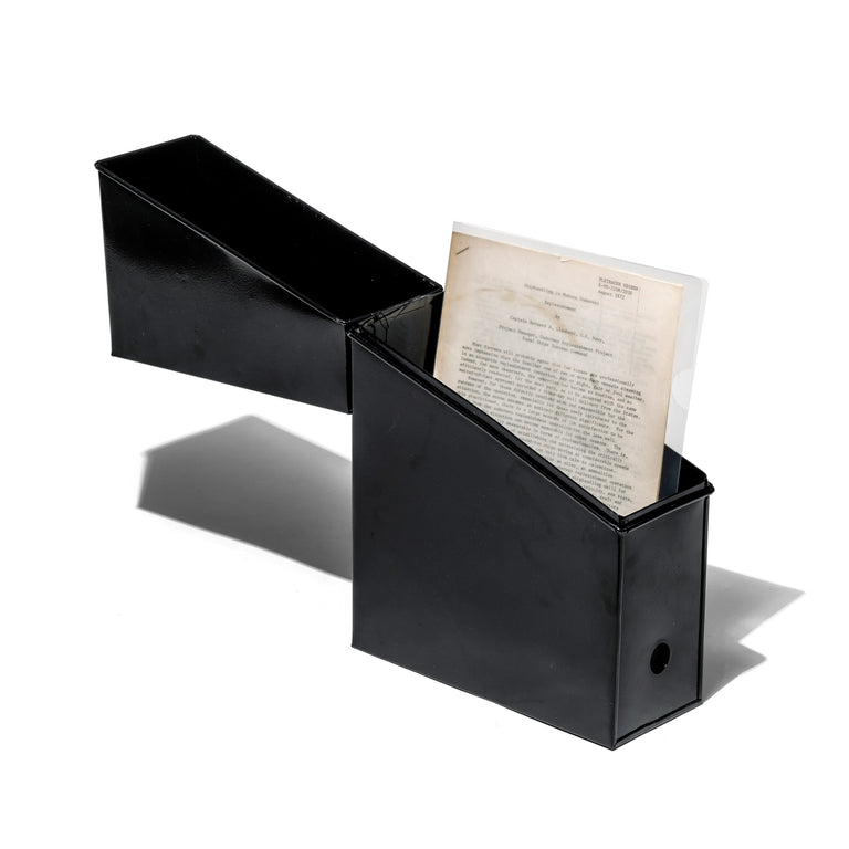 Steel File Storage Box Black